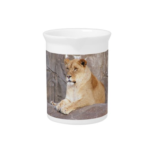 Lioness on the Rocks Pitcher