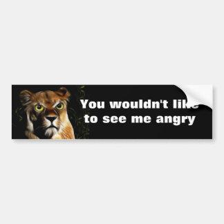 Lioness on Watch Car Bumper Sticker