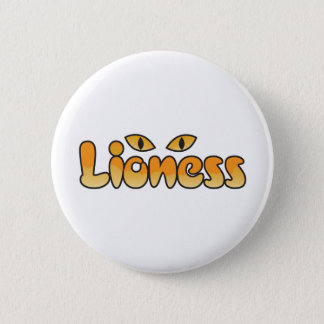 lioness pinback button