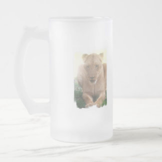 Lioness Profile Frosted Beer Mug