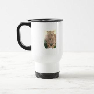 Lioness Profile Plastic Travel Mug