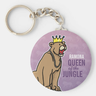Lioness Queen of the Jungle, Add Child's Name Keychain