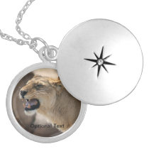 Lioness - Queen of the Jungle Silver Plated Necklace