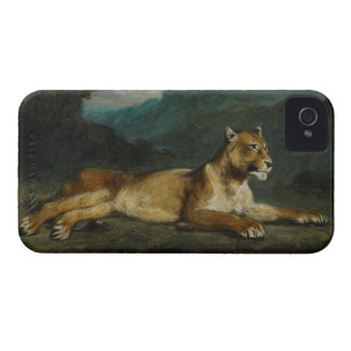 Lioness reclining, c.1855 (oil on panel) Case-Mate iPhone 4 case