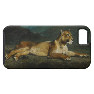 Lioness reclining, c.1855 (oil on panel) iPhone 5 cover