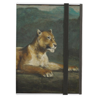 Lioness reclining, c.1855 (oil on panel) iPad covers