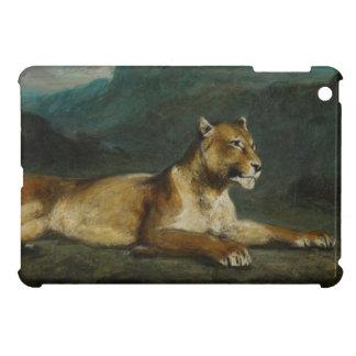 Lioness reclining, c.1855 (oil on panel) iPad mini cases