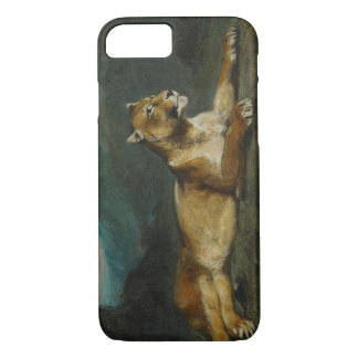 Lioness reclining, c.1855 (oil on panel) iPhone 8/7 case