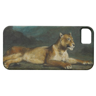 Lioness reclining, c.1855 (oil on panel) iPhone SE/5/5s case