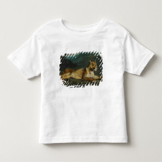 Lioness reclining, c.1855 (oil on panel) toddler t-shirt