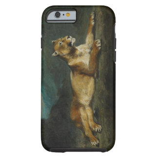 Lioness reclining, c.1855 (oil on panel) tough iPhone 6 case