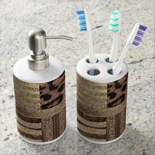 Zebra Print Bath Accessory Sets Zazzle