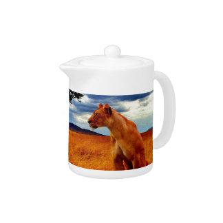 Lioness Storm Teapot