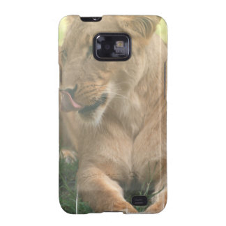 Lioness with Tongue Out Samsung Galaxy Case Samsung Galaxy SII Covers