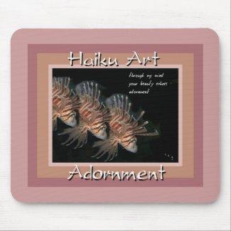 Lionfish Adornment Haiku Art Mousepad mousepad