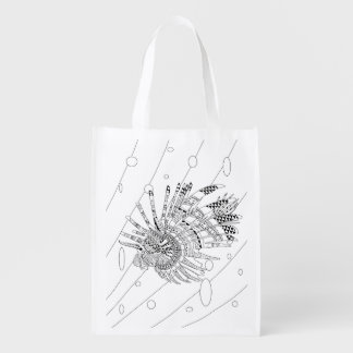 Lionfish Adult Coloring Bag Grocery Bag