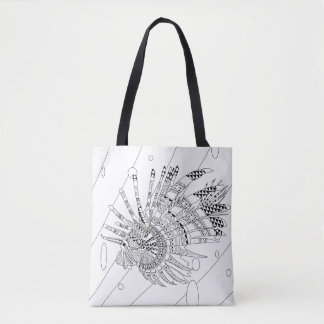 Lionfish Adult Coloring Full Tote