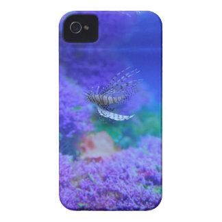 Lionfish Aquarium Fish Purple Pterois Zebrafish iPhone 4 Case-Mate Case