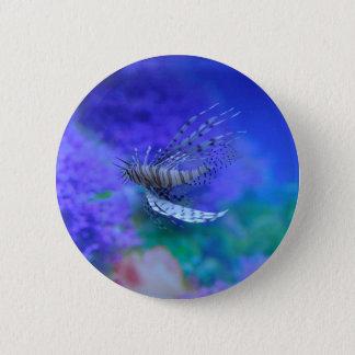 Lionfish Aquarium Fish Purple Pterois Zebrafish Pinback Button