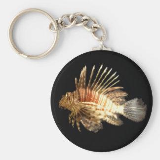 Lionfish Basic Round Button Keychain
