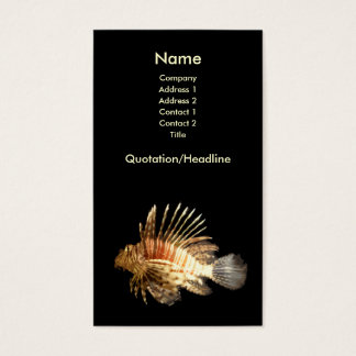 Lionfish Business Card