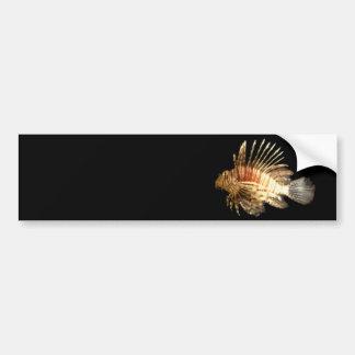 Lionfish Pegatina De Parachoque