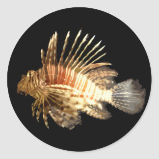 Lionfish Classic Round Sticker