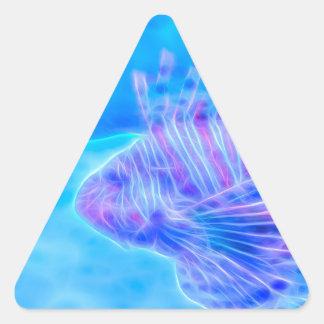 Lionfish del estado ideal pegatina triangular