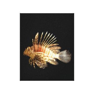 Lionfish Impresión En Lona Estirada
