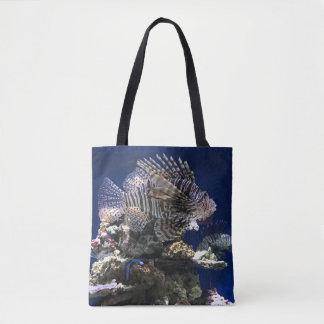 Lionfish in Aquarium Tote Bag