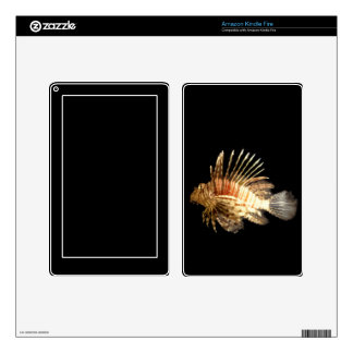 Lionfish in the Dark Decals For Kindle Fire
