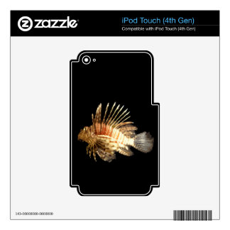Lionfish in the Dark iPod Touch 4G Decals