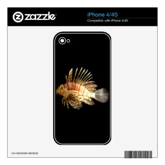 Lionfish in the Dark Skins For iPhone 4