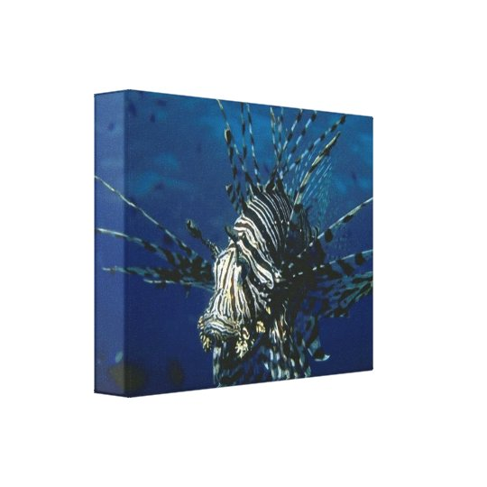 Lionfish in the Ocean Canvas