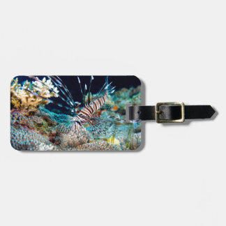 Lionfish luggae tag - with leather strap luggage tag