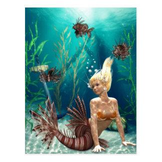 Lionfish Mermaid Postcard
