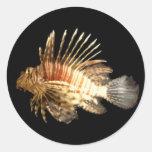 Lionfish Pegatina Redonda