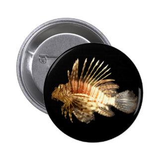 Lionfish Pin Redondo De 2 Pulgadas