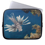 Lionfish (Pterois volitans) swimming over Computer Sleeve