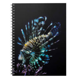Lionfish swims spiral notebook