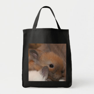 Lionhead Baby Bunny Tote Bags