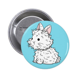 Lionhead bunny badge - Colour of your choice 2 Inch Round Button