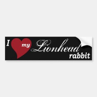 Lionhead rabbit bumper sticker
