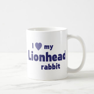 Lionhead rabbit coffee mug