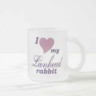 Lionhead rabbit frosted glass coffee mug