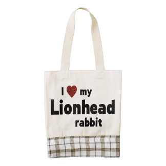 Lionhead rabbit zazzle HEART tote bag