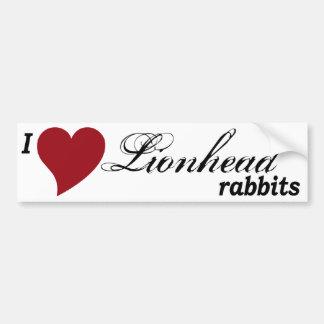Lionhead rabbits bumper sticker