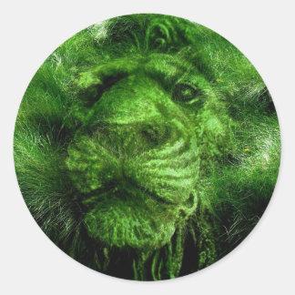 lionking classic round sticker