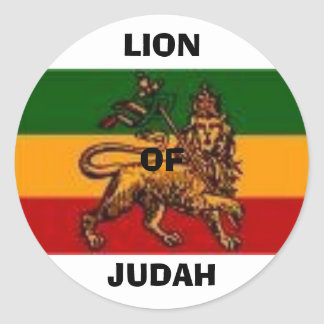 lionofjudah1, LIONOFJUDAH Classic Round Sticker
