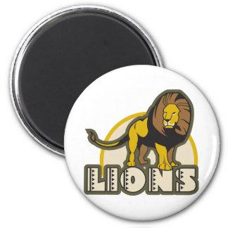 Lions 2 Inch Round Magnet